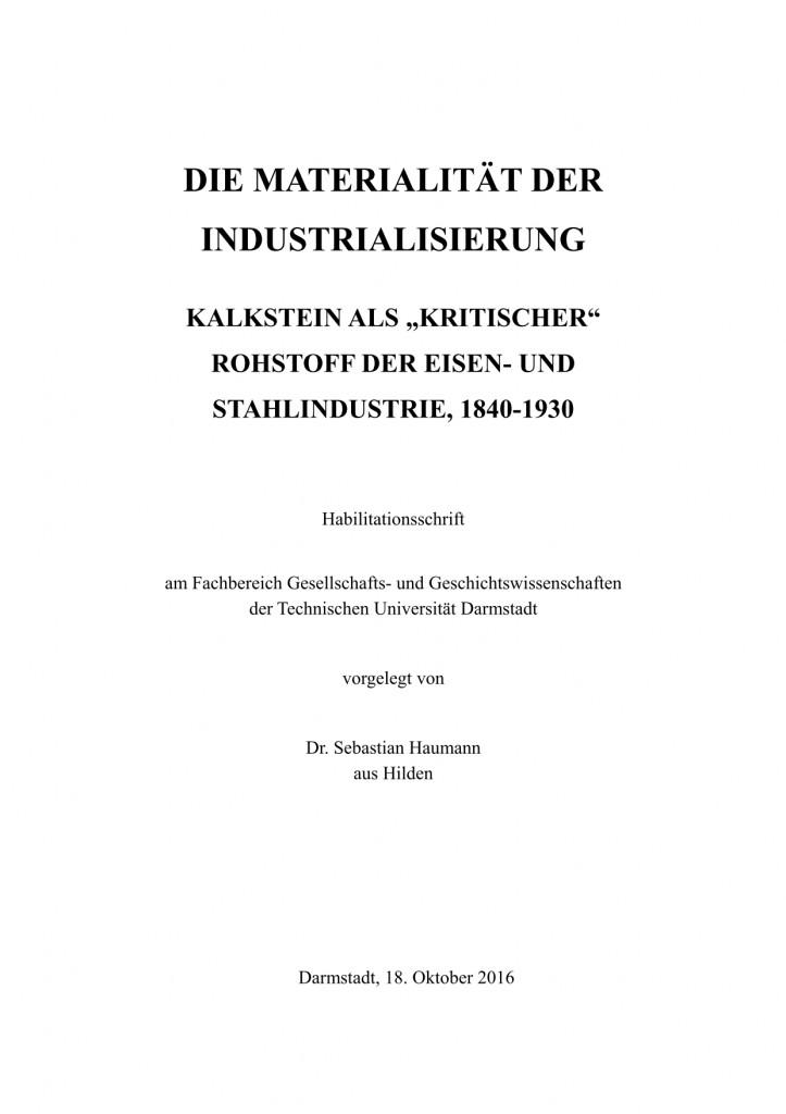 Habil - Titelblatt